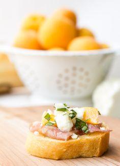 Apricot cheese serrano baguette