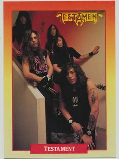 Testament - 1991 RockCards #125 #Collectible