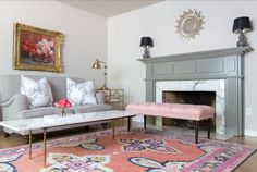 A stunningantique-inspired Persian rug created to perfection in all our favorite hues. It is as luxurious underfoot as it is stylish. Dress it up with coordi