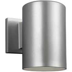 Sea Gull Lighting 8313897S-753 Cylinders LED 7 inch Painted Brushed Nickel Outdoor Wall Lantern