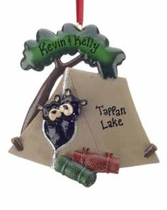 Buy Black Bear Camping Tent Couple - Personalized Couples Christmas Ornaments, Gifts, and Decorations at the Ornament Shop. Over 5000+ items.