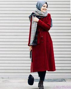 Classy Winter Coat Looks With Hijab Tesettür Jean Modelleri 2020 Abaya Fashion, Muslim Fashion, Modest Fashion, Hijab Style, Hijab Chic, Hijab Elegante, Estilo Abaya, Modele Hijab, Coats For Women