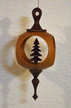 Turned Christmas Ornament