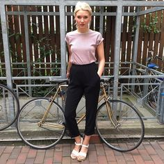 Laura from Amsterdam in new stripes and the Crepe Pant.