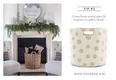 Fresh American Mina Linen Storage Bin from Layla Grayce