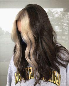 Cute Hair Colors, Hair Dye Colors, Hair Color Streaks, Hair Highlights, Dye My Hair, New Hair, Hair Color Underneath, Aesthetic Hair, Grunge Hair