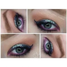 Look created using starcrushedminerals eyeshadows in BirdsOfParadise,NakedLady,GirlNextDoor and litcosmetics glitter in AfternoonDelight.