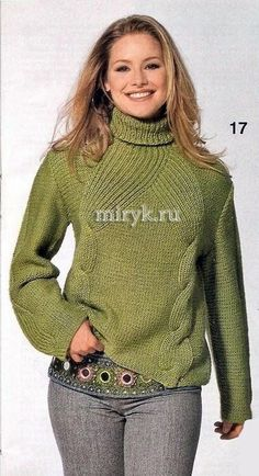 Очаровательный свитер с косами