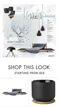 """""""Winter Watercolors"""" by nyrvelli ❤ liked on Polyvore featuring interior, interiors, interior design, home, home decor, interior decorating, Stelton, Kate Aspen, Winter and watercolor"""