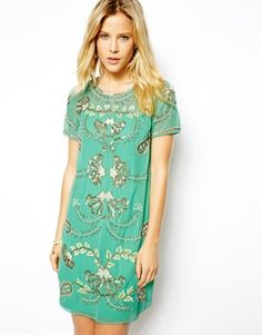 Buy Needle & Thread Gilded Filigree Shift Dress at ASOS. With free delivery and return options (Ts&Cs apply), online shopping has never been so easy. Get the latest trends with ASOS now. Shift Dresses, Evening Dresses, Needle And Thread Dresses, Boho Fashion, Fashion Dresses, Vestidos Retro, Dress Me Up, Dress To Impress, Cute Dresses