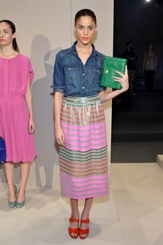 J.Crew Spring 2012 presentation. Photo: Mike Coppola/Getty Images for Mercedes-Benz Fashion Week.