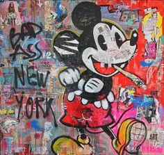 """Saatchi Art Artist Kristin Kossi; Painting, """"Mickey"""" #art"""