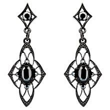 Buy Downton Abbey Collection Jet Plated Crystal Edwardian Filigree Drop Earrings Online at johnlewis.com