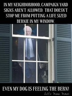 This is friggin' awesome! Everybody needs to own a cut out of Bernie Sanders. #FeelTheBern