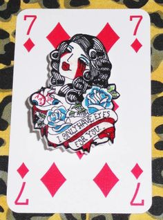 7 And 7, Awesome Stuff, Type 3, Jewelery, Playing Cards, Brooch, Eyes, How To Make, Jewlery