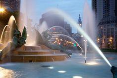 Logan Square Fountain at night. #philadelphia #handandstone