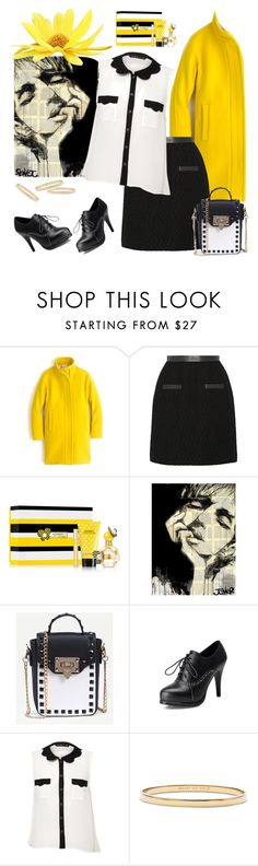 """Yellow/Black/White"" by petalp ❤ liked on Polyvore featuring J.Crew, Jason Wu, Marc Jacobs, Miso, Kate Spade and outfit"