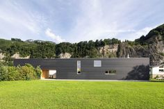 Image 1 of 33 from gallery of in Hohenems / Juri Troy Architects. Courtesy of Juri Troy Commercial Architecture, Interior Architecture, Interior And Exterior, Interior Design, Troy, Black Building, Wood Facade, Long House, Natural Scenery