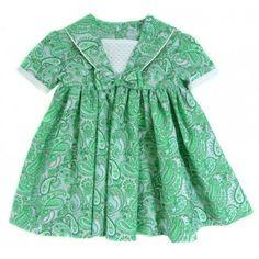 Vestido tela niña hecho a mano