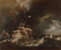Ludolf Bakhuizen - Dutch Merchant - Ships in a Storm (17th century)