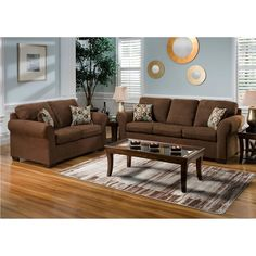 Living Room Colors with Brown Furniture. 20 Living Room Colors with Brown Furniture. Living Room Ideas with Brown sofas Living Room Color Schemes, Paint Colors For Living Room, Living Room Sets, Living Room Designs, Light Brown Couch, Grey And Brown Living Room, Brown Couch Decor, Brown Furniture, Living Furniture