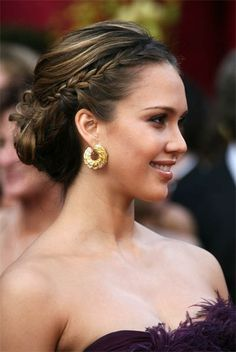 Braided bun. Bridesmaid hair? Maybe for Danielle's wedding