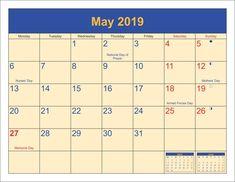may 2019 editable calendar