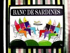 """Poster breton """" Banc de sardines"""" de la collection """" Les sardines en fête"""" - Breizh Nana"""
