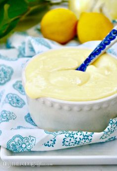 Sugar Free Lemon Curd! You'll be tempted to eat this smooth and silky dessert by the spoonful #lowsugar #curd #lemon #dessert   www.thefoodieaffair.com