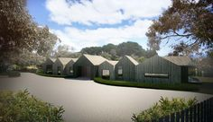 Duckbuild Architecture - Residential Exterior (visualisation) - Under Construction - Red Hill House