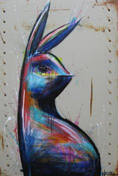 "Saatchi Art Artist Max Neutra; Bunny Painting, ""It's Complicated"" #art"