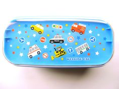 2 Tier Bento Box With Band Cute Vehicles Blue  | eBay