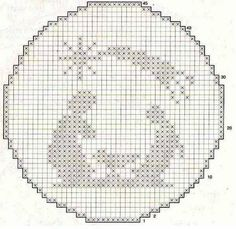 present for christmas: crochet ornaments - crafts ideas - crafts for kids Cross Stitch Christmas Ornaments, Xmas Cross Stitch, Crochet Ornaments, Simple Cross Stitch, Christmas Embroidery, Ornament Crafts, Christmas Cross, Cross Stitching, Cross Stitch Embroidery