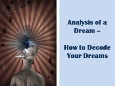 The idea in analyzing your dreams is to keep in mind that no one else can analyze your dreams for you. Your dreams are a personal reflection of what is going on within you.  #psychicdevelopment #selfimprovement #dreams