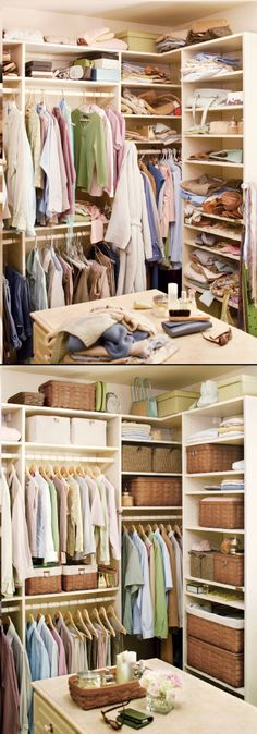 Organizing your closet with Longaberger baskets love this!