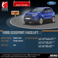 Upcoming Car For Ecosport Facelift August2016. #krishnaCar