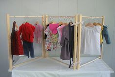 Doll Clothes Rack for American Girl Doll 18 Inch Doll.