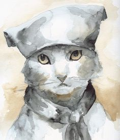 cat watercolor