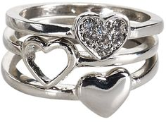 #Aeropostale              #ring                     #Heart #Ring #3-Pack      Heart Ring 3-Pack                                   http://www.seapai.com/product.aspx?PID=381670