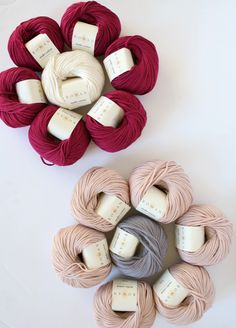 April showers bring Rowan yarn flowers! Mako Cotton from Rowan Selects is a limited edition, ultra soft blend of 63% cotton and 37% lyocell and available in seven shades. Perfect for easy, breezy tops like wrap-around cardigans, tank tops and tees and available now at Jimmy Beans Wool. Rowan Yarn, Yarn Flowers, April Showers, Burlap Wreath, Cardigans, Christmas Wreaths, Beans, Shades, Wool