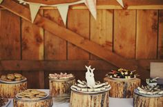 wedding dessert table rustic - do this at www.dodsonorchards.com