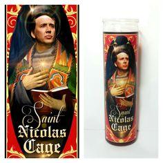 Nicolas Cage Prayer Candle