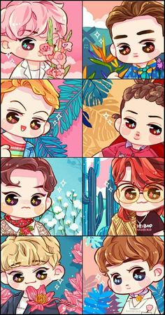 Find images and videos about kpop, exo and fanart on We Heart It - the app to get lost in what you love. Kpop Exo, Exo Kokobop, K Pop, Kpop Anime, Anime Guys, Chanyeol, Kyungsoo, Kai, Character Concept