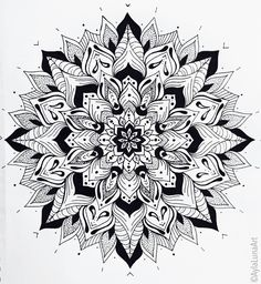 Hand drawn mandala design by Ayla Bryden