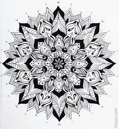 Hand drawn mandala design by Ayla Bryden