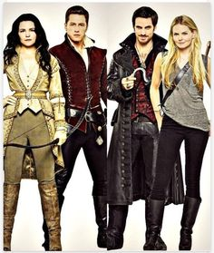 Snow White. Prince Charming. Captain Hook. Emma Swan.