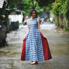Buy Rustorange Indigo Blue Hand Block Printed Kurta online in India at best price.A fusion of Indian ethnic and off beat design, this indigo blue hand block printed kurta dress is all Fashion Vocabulary, Ethnic Dress, Indian Designer Wear, Bollywood Fashion, Blouse Designs, Trendy Outfits, Cold Shoulder Dress, Clothes For Women, Blue Block