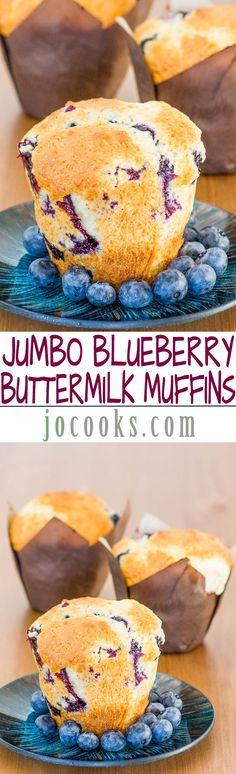 Jumbo Blueberry Buttermilk Muffins