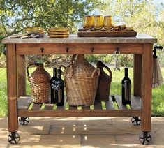 Between Naps on the Porch | Build a Potting Table, Great for Parties, Too! | http://betweennapsontheporch.net