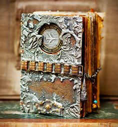 ⌼ Artistic Assemblages ⌼ Mixed Media & Collage Art - Metal book by Leslie Marsh